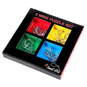 4 Wire Puzzle Set
