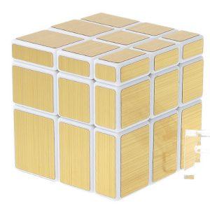 Зеркальный куб Gold (Белая основа)