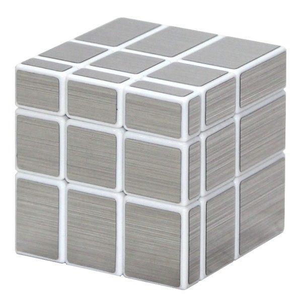 Зеркальный куб Silver (Белая основа)